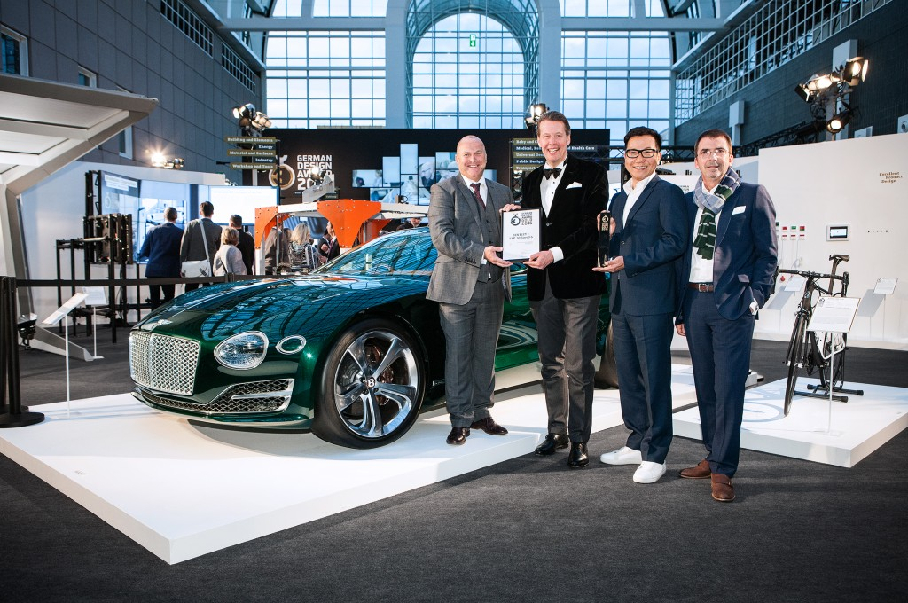 Bentley collects gold at German  Design Awards with EXP 10 Speed 6