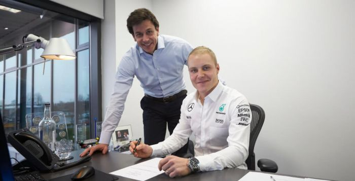 Bottas contract with mercedes 2017
