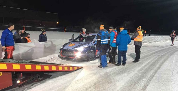 Neuville retirement 15th SS at Rally Sweden 2017