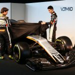 (L to R): Sergio Perez (MEX) Sahara Force India F1 and team mate Esteban Ocon (FRA) Sahara Force India F1 Team unveil the Sahara Force India F1 VJM10. Sahara Force India F1 VJM10 Launch, Wednesday 22nd February 2017. Silverstone, England.