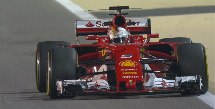 2017 Vettel at Bahrain GP