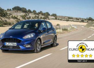 Fprd Fiesta EuroNCAP 5 stars rating